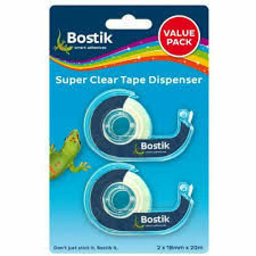 Picture of BOSTIK CLEAR TAPE VALUE PACK 18mmx20m