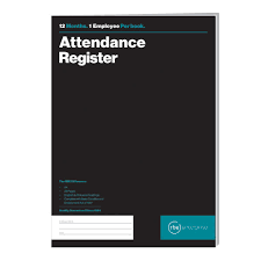 Picture of ATTENDANCE REGISTER RBE